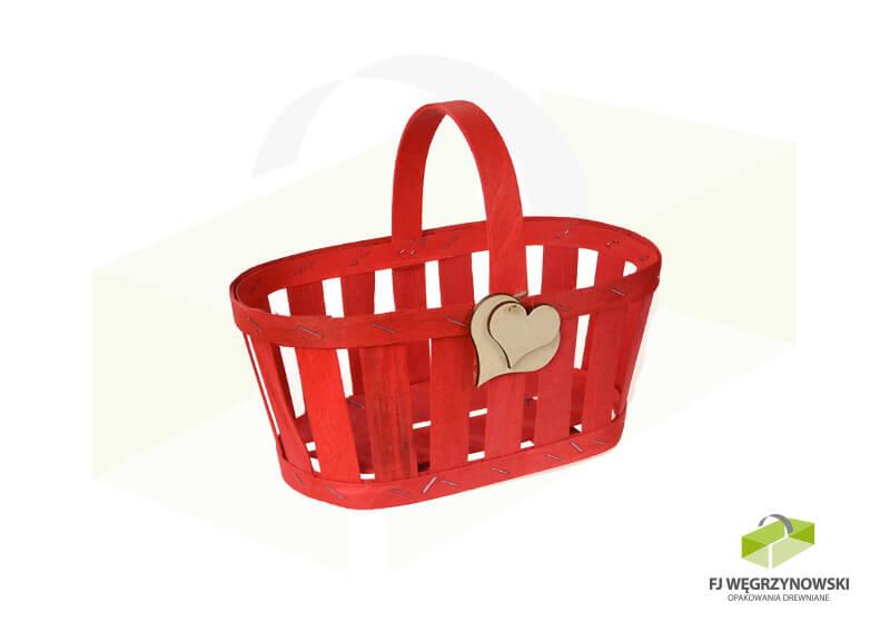 Basket 23,5 x 13,5 x 10,5 cm, overall height 20cm, colour 4, heart